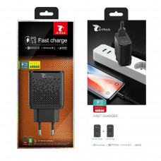 ADAPTADOR DUAL USB FAST CHARGE A8528 BLACK LT PLUS