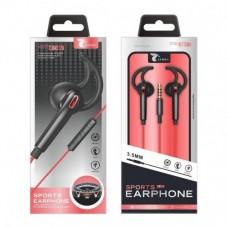SPORTS EARPHONE 1.2M JACK 3.5 C6039 PRETO LT PLUS