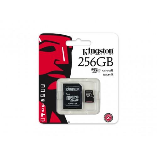 256GB MICSDXC CANVAS SELECT PLUS 100R A1 C10 CARD + ADP KINGSTON