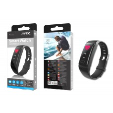 WATERPROOF SPORTS SMART WATCH ACTIVITY BRACELET, RT729 BLACK MTK