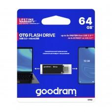 PEN DRIVE GOODRAM 64GB OTN3 USB 3.0 + MICRO USB