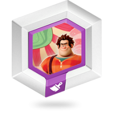 FIGURA DISNEY INFINITY  KING CANDY´S DESSERT TOPPINGS SUGAR RUSH TERRAIN  DISC- USADO