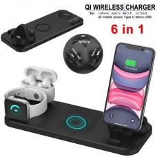 CHARGER DOCK 6 IN 1 UNIVERSAL PRETO