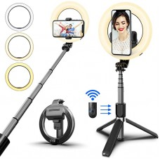 RING LIGHT SELFIE STICK L07 INTEGRATED TRIPOD WIRELESS REMOTE