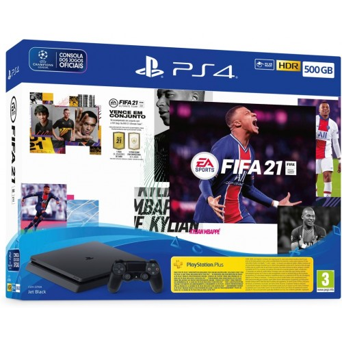 CONSOLA PS4 SLIM 500 GB + FIFA 21