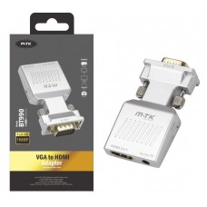 ADAPTADOR VGA PARA HDMI + AUDIO 3,5MM BT990 CINZA MTK