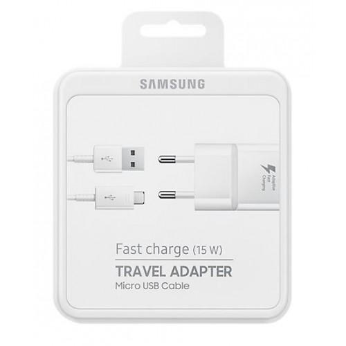 SAMSUNG FAST CHARGE TRAVEL ADAPTER MICRO USB 15W 2A EP-TA20EWEUGWW