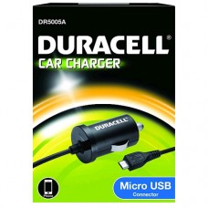 DURACELL CAR CHARGER+1M MICRO USB 2.4A DR5005A SINGLE BLACK