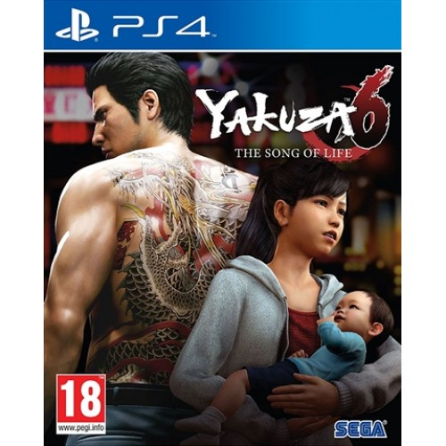 PS4 YAKUZA 6 THE SONG OF LIFE - USADO