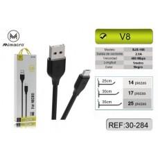 CABO USB MICRO USB 1M  SJX-168 PRETO MIMACRO
