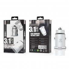 CAR CHARGER WITHOUT CABLE 3.1A 2USB WA2798 CINZA WOOX