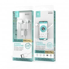 STEREO EARPHONE WITH TYPE-C WC8285 BRANCOS IKREA