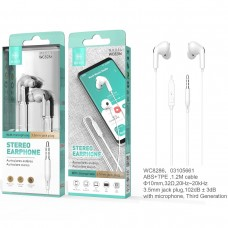 STEREO EARPHONE WITH MICROPHONE JACK 3.5MM WC8286 BRANCOS IKREA