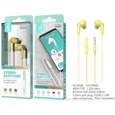 STEREO EARPHONE WITH MICROPHONE JACK 3.5MM WC8286 AMARELOS IKREA