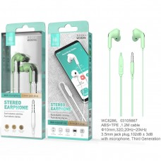STEREO EARPHONE WITH MICROPHONE JACK 3.5MM WC8286 VERDES IKREA