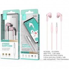 STEREO EARPHONE WITH MICROPHONE JACK 3.5MM WC8286 ROSA IKREA