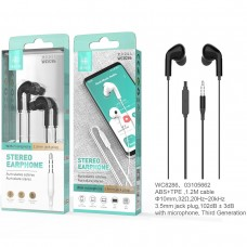 STEREO EARPHONE WITH MICROPHONE JACK 3.5MM WC8286 PRETOS IKREA