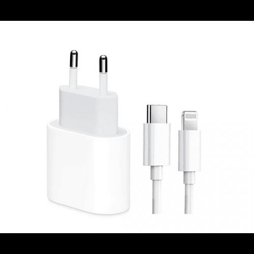 ADAPTADOR / CARREGADOR 20W USB-C + CABO USB C A LIGHTNING 1M