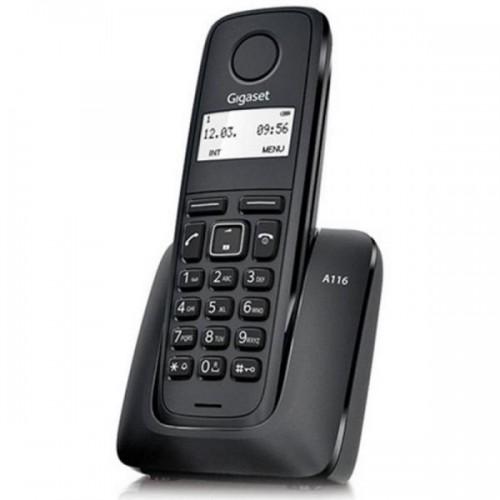 TELEFONE FIXO SEM FIOS GIGASET A116  PRETO