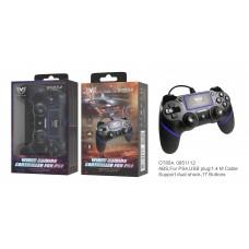 PS4  WIRED GAMING CONTROLLER OT854 PRETO MOVETECK GAMER (COMANDO SEM FIOS)