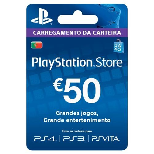 PSN CARTAO PLAYSTATION NETWORK 50 EUROS