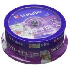 DVD+R DL VERBATIM 8X, 8.5GB IMPRIMIVEIS - PACK 25