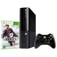 CONSOLA XBOX360 SUPER SLIM 4 GB + JOGO FIFA 14 - USADO
