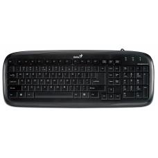 keyboard - rs, slimstar 110, ps2, blk, port - NOVO