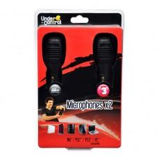 Pack 2 Microfones com fios