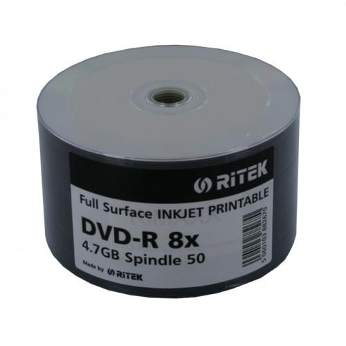 DVD-R Ritek Imprimíveis 8x- Pack 50
