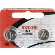 Pilha LR43 1.5V MAXELL
