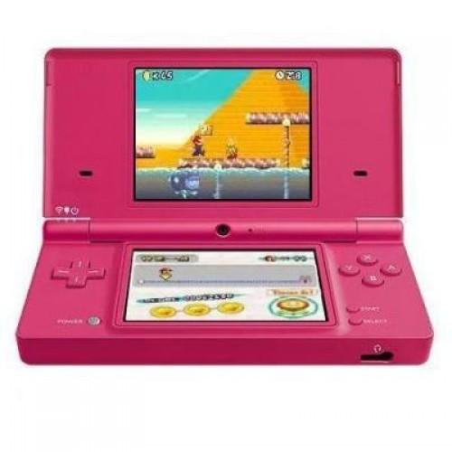 Consola Nintendo DSi Rosa + Cartão R4 + MicroSD 8Gb - Usada