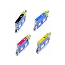 Conjunto 4 Tinteiros Compatíveis Epson ref. T0 611/2/3/4