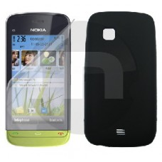 Tampa Nokia A+B+C C5-03 Preta