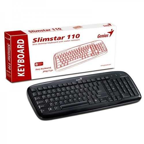 Teclado SlimStar 110 Slim Desktop USB - NOVO