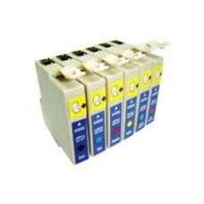 Conjunto 6 Tinteiros Compatíveis Epson ref. T0 481/2/3/4/5/6